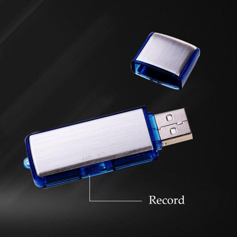 8GB Digital Diktiergerät Spy USB Stick Aufnahmegerät Audio Voice Recorder DE Neu