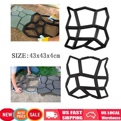 - Plastic Pathmate Stone Paving Mold Concrete Stepping Walk Way Mould Paver 9 Grid