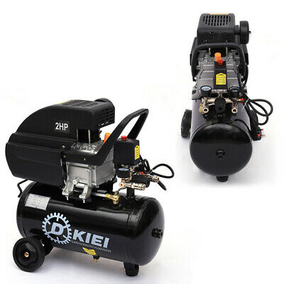 Black 25L Litre Air Compressor 2HP Engine 115PSI 2800RPM 220V Garage Equipment