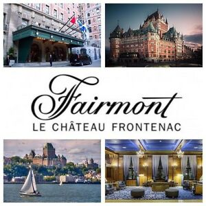 1 night stay for 2 - Le Chateau Frontenac, Quebec, QC