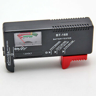 Universal Battery Checker Tester AA AAA C D 9V Button Checker Accessory New