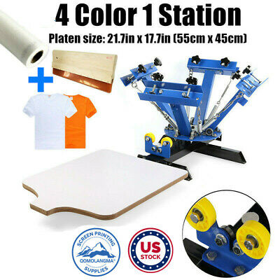 Usa 4 Color 1 Station Manual Screen Printing Press Silk Screening Pressing Diy