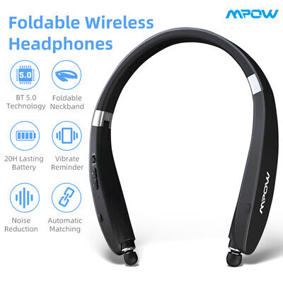 Mpow Wings Wireless Bluetooth Headset Sports Headphone Noise Cancelling Neckband