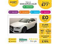 White AUDI A4 SALOON 1.8 2.0 TDI Diesel BLACK EDITION FROM £77 PER WEEK!