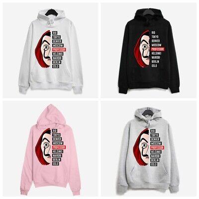 Money Heist Printed Baggy Hoodie Sweatshirt Men Ladies Unisex Hooded Sweater