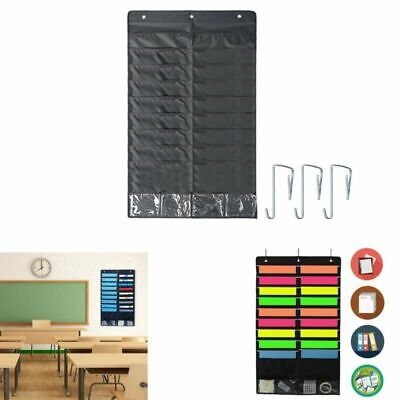 18p Fabric Pocket Chart Storage Hanging Wall File Folder Organizer Office School