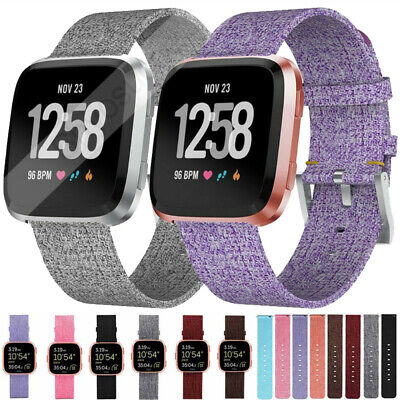 NEW For Fitbit Versa/Versa Lite Strap Replacement Woven Fabric Fabric Watch -