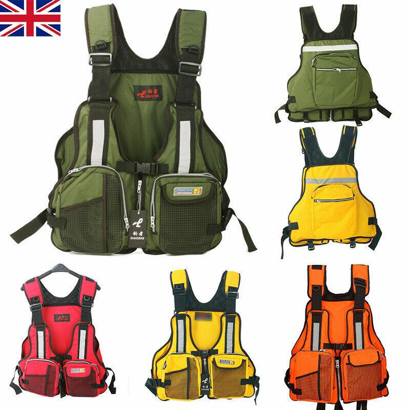 Hot Use Adult Buoyancy Aid Sailing Kayak Canoe Fishing Life Jacket Vest Cool UK