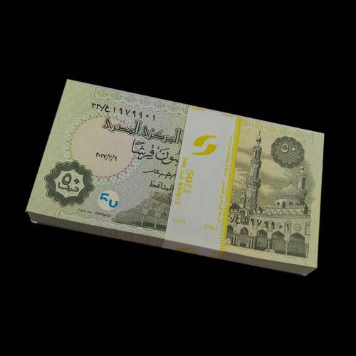 Bundle Lot 100 PCS, Egypt 50 Piastres,  random year, P-62, UNC