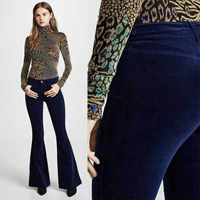 Women's High Waist Velvet Bell-bottoms Sexy Slim Trousers New Tight Pants Flared](Womens Bell Bottoms)