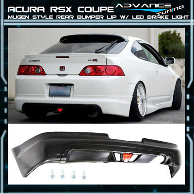 For 05-06 Acura RSX DC5 Type-S 2Dr Mugen PU Rear Bumper Lip Spoiler LED Light Acura Rsx Dc5 Types