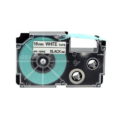 Compatible For Casio Ez-label Tape 18mm Black On White Xr-18we1 8m Label