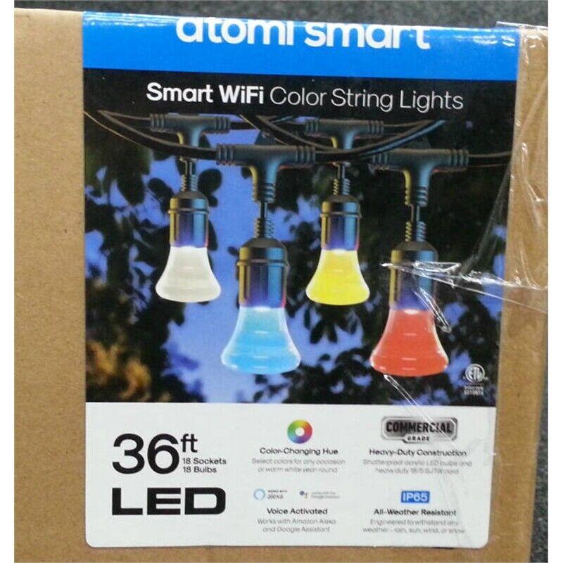 Atomi Smart AT1308 LED Multi-Color String Lights 36