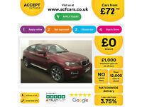 Red BMW X6 3.0TD 4X4 Auto 2011 xDrive30d FROM £72 PER WEEK!
