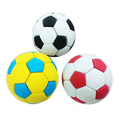 3Pcs Funny Football Soccer Rubber Pencil Eraser Students Stationery Toy Healthy