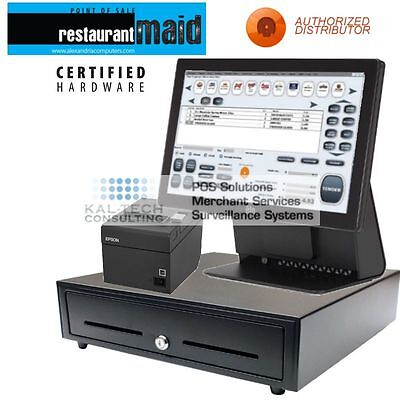 Elo 15e2 Bar Restaurant Pos Complete System With Software Brand New 4gb Ram Ssd