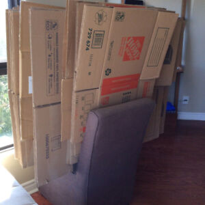 Moving supplies:Boxes, blankets, tape gun, 18 tape rolls, bubble