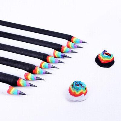 Rainbow Stationery Colorful White Wood Sets Rainbow Pencils School Office