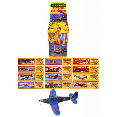 12 Flying Glider Planes Aeroplane Party Fillers Childrens Kids Toys Game - Flying Gliders