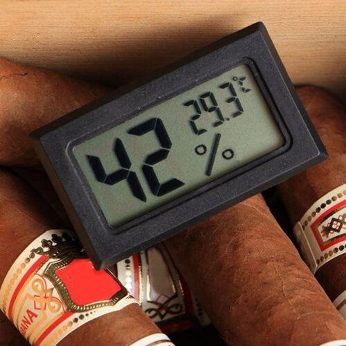 Black Gauge Monitor Meter Digital Display Hygrometer Humidity LCD Thermometer