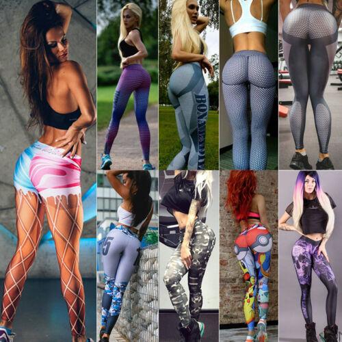 Leggings - Women Stretch Fitness Yoga Leggings High Waist Pants Running Gym Sports Trousers