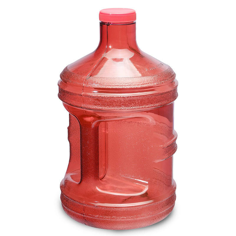 BPA Free 1 Gallon Plastic Water Bottle Drinking Canteen Jug