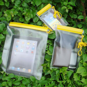 PACK-of-3-SIZES-WATERPROOF-CAMERA-MOBILE-PHONE-POUCH-DRY-BAG-PVC-CASE-KAYAK-BOAT