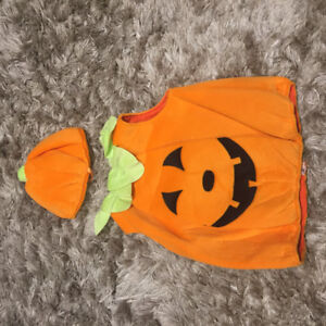 Toddler pumpkin Halloween costume (size 12-18 months).