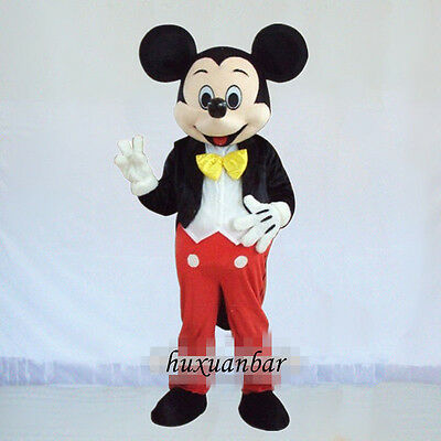 2019【TOP QUALITY】MICKEY MOUSE MASCOT COSTUME ADULT SIZE HALLOWEEN DRESS EPE HEAD - Adult Mickey Mouse Halloween Costume