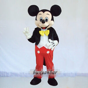 Hot Adult Mickey Mouse Mascot Costume Parade Outfit Dress EPE Head Cosplay Suit