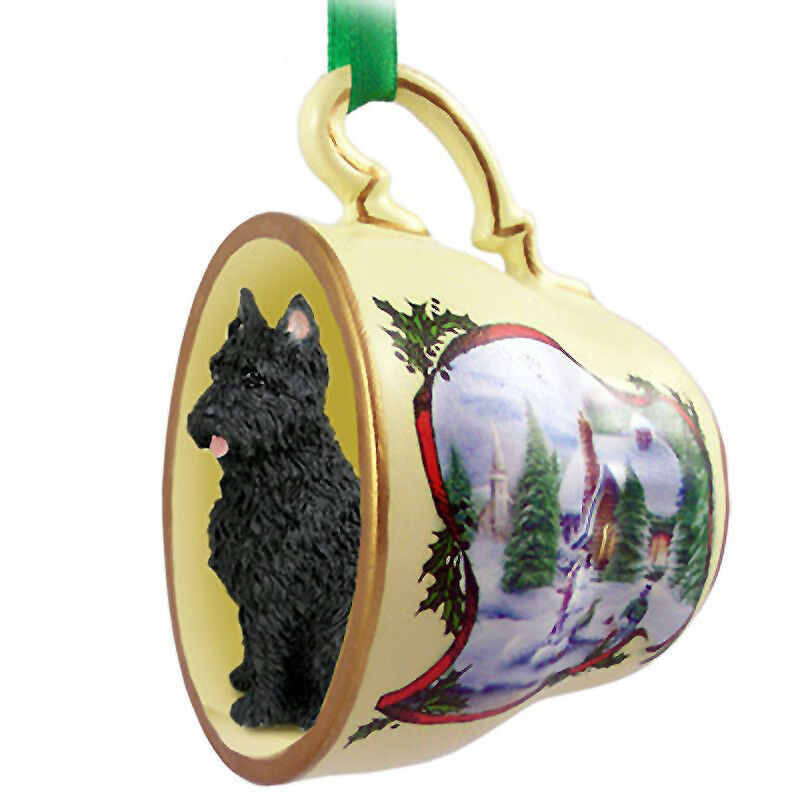 Bouvier Christmas Teacup Ornament Cropped