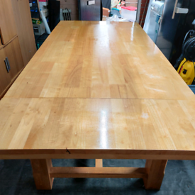 Real oak dining table with 6 chairs