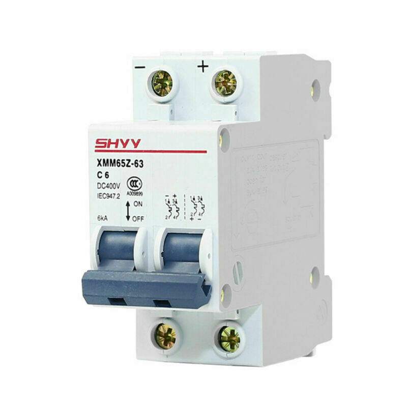 DC 400V Current Circuit Direct-current Breaker For 2P-6/10/16/20/ 25/32/40/50 A