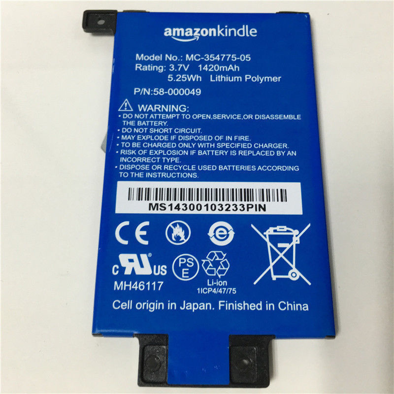 """New Battery For Kindle PaperWhite 1st Gen 6/"""" 58-000008 MC-354775-03"""
