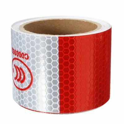 3 Meter Reflective Tape - 2 inch x 10ft 3 Meters Night Reflective Safety Warning white red Tape Strip R3N4