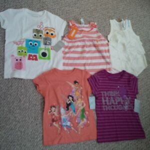 New! 5/6 Girl's short-sleeved shirts