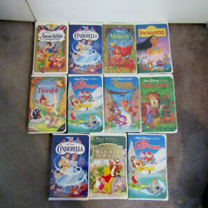16 VHS Lot - Disney Black Diamond Masterpiece Beatrix Potter