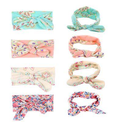 DE 4x Blumen / Bowknot Baby Stirnband Mädchen Haarbänder Zubehör Kinder Headwear