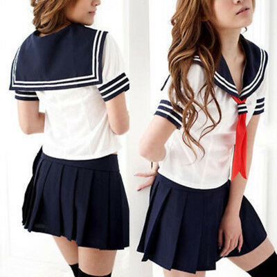 Cosplay Japanese School Girl Students Sailor Uniform Anime Fancy Dress Costume K](Anime Girl Costume)