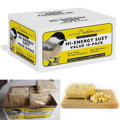 10-Pack Signature Harvest High Energy Suet Cakes Local Bird Healthy Food Diet