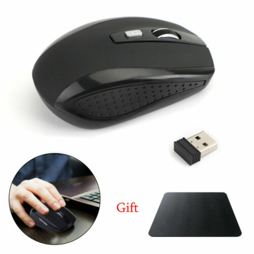 2.4GHz Wireless 2000DPI Cordless Optical Mouse USB Receiver for Laptop PC