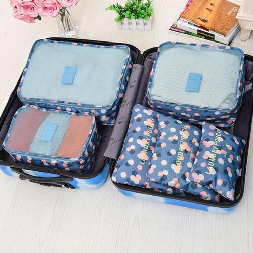 flower pattern travel large packing cube luggage organizer. Black Bedroom Furniture Sets. Home Design Ideas