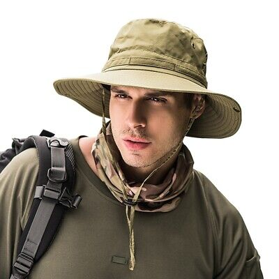 Camo Bucket Hats (Bucket Hat Boonie Hunting Fishing Outdoor Wide Brim Safari Camo Sun Cap)