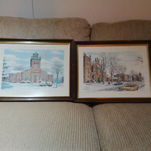 Woodstock Ontario Historical Watercolours