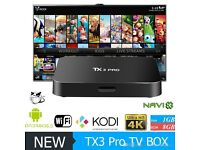 4k TX3 PRO Original Android 6 TV Box Amlogic S905X Xbmc 16.1 Wifi with Pulse build