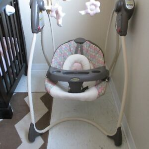 Baby Swing, Exersaucer, Car seat