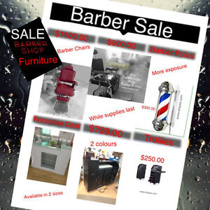 Barber Chairs, styling chairs, NEW shampoo stations & furniture West Island Greater Montréal image 2