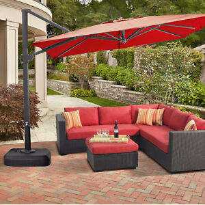 Patio umbrella cantilever parasol inclinable LIKE NEW COMME NEUF