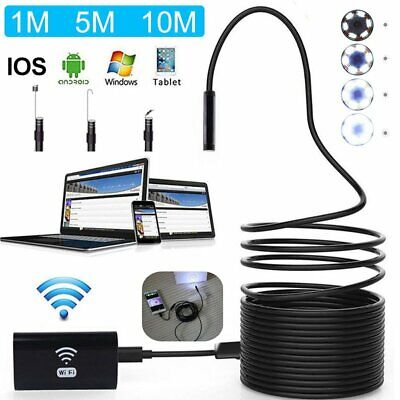 1280p Wifi Endoscope Borescope Inspection Usb Hd Camera Cam For Andriod Ios 2019