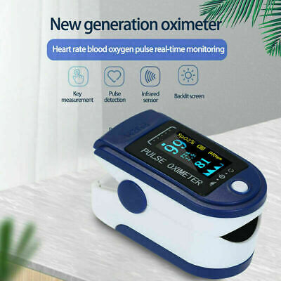 New Pulse Fingertip Oximeter Blood Oxygen Spo2 Monitor Pr Pi Heart Rate Fda Ce